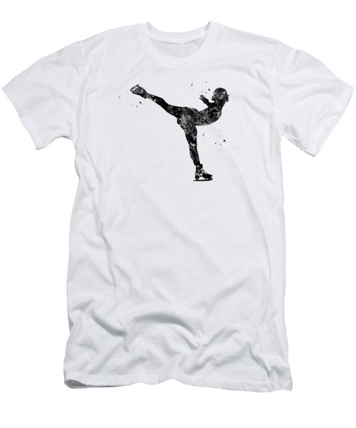 Ice Skating Girl-black Men's T-Shirt (Athletic Fit)