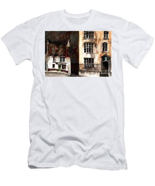 Men's T-Shirt (Athletic Fit) featuring the painting 305 Frys Chochies In Killarney, Co. Kerry by Val Byrne