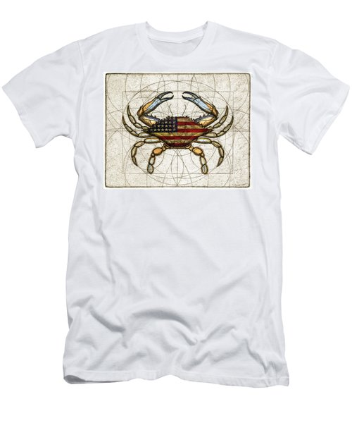 4th Of July Crab Men's T-Shirt (Athletic Fit)