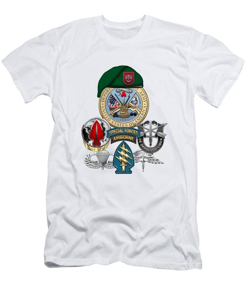 7th Special Forces Group - Green Berets Special Edition Men's T-Shirt (Athletic Fit)