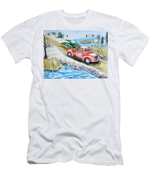 A Cape Cod Christmas Men's T-Shirt (Athletic Fit)