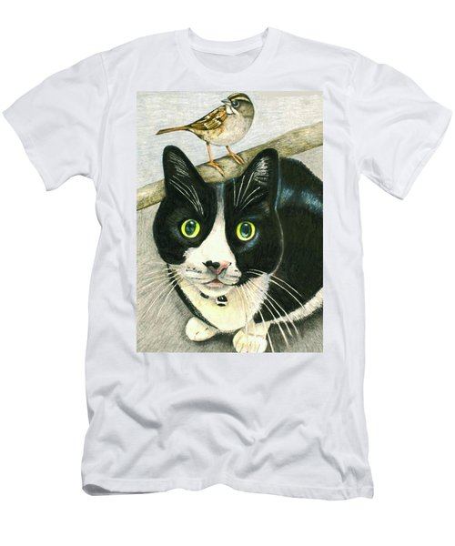 A Cat Named Sparrow Men's T-Shirt (Athletic Fit)
