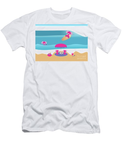A Dog Family Surf Day Out Men's T-Shirt (Athletic Fit)