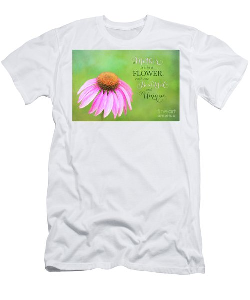 A Mother Is Lke A Flower Men's T-Shirt (Athletic Fit)
