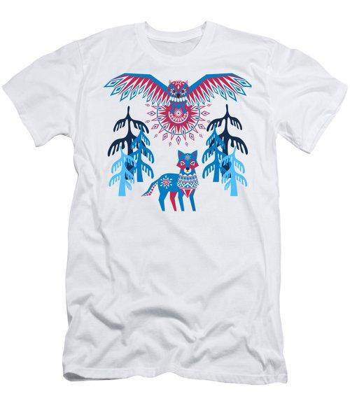 A Northern Folk Winter Woods Midnight Sun Men's T-Shirt (Athletic Fit)