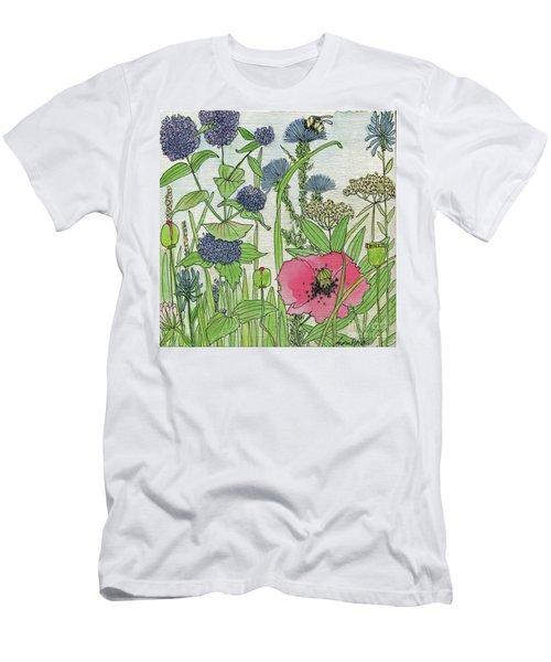 A Single Poppy Wildflowers Garden Flowers Men's T-Shirt (Athletic Fit)