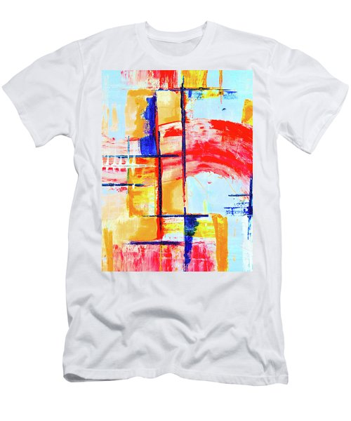 Men's T-Shirt (Athletic Fit) featuring the painting Ab19-5 by Arttantra