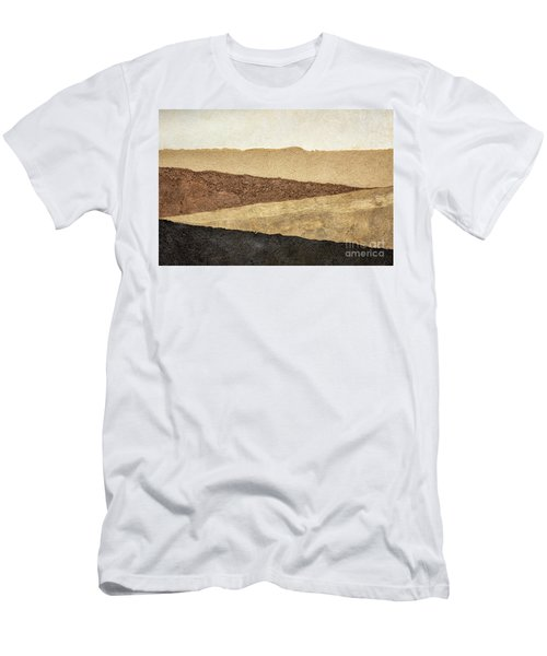 Abstract Landscape In Earth Tones Men's T-Shirt (Athletic Fit)