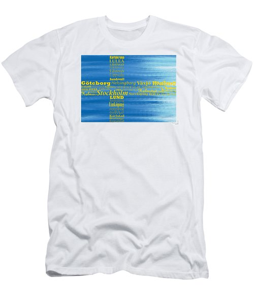 Abstract Swedish Flag  Men's T-Shirt (Athletic Fit)