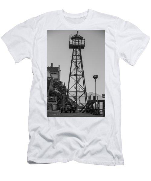 Men's T-Shirt (Athletic Fit) featuring the photograph Alcatraz Light House by Stuart Manning