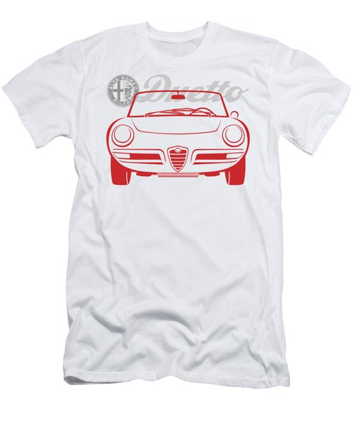 Alfa Duetto Spider-2 Men's T-Shirt (Athletic Fit)