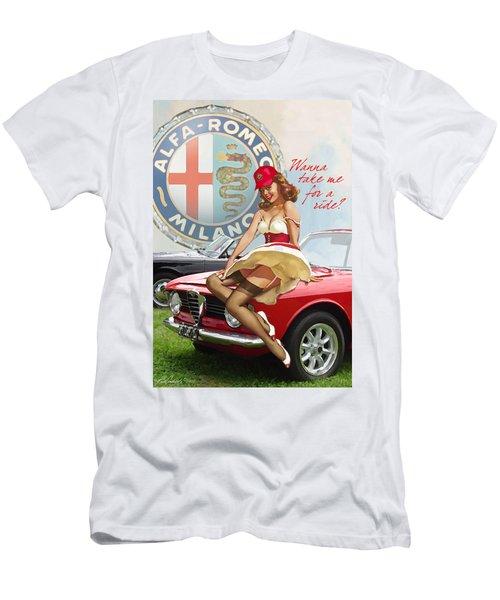 Alfa Giulia Sprint Gt Babe Men's T-Shirt (Athletic Fit)