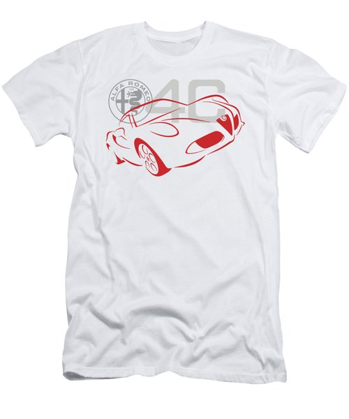 Alfa Romeo 4c-1 Men's T-Shirt (Athletic Fit)