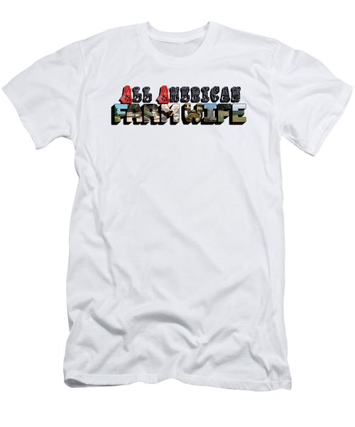 All American Farm Wife Big Letter Men's T-Shirt (Athletic Fit)