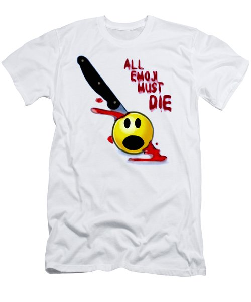 All Emoji Must Die Men's T-Shirt (Athletic Fit)