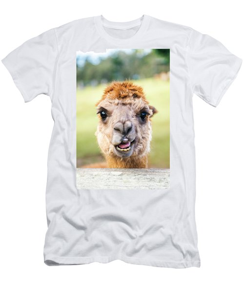 Men's T-Shirt (Athletic Fit) featuring the photograph Alpaca by Rob D Imagery