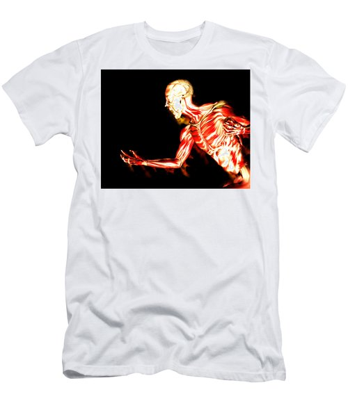 An Image Of A Man Without Any Skin, With His Muscles Exposed A Suitable Image For Halloween. - Illus Men's T-Shirt (Athletic Fit)