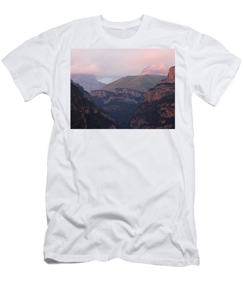 Men's T-Shirt (Athletic Fit) featuring the photograph Anisclo Canyon Sunset by Stephen Taylor