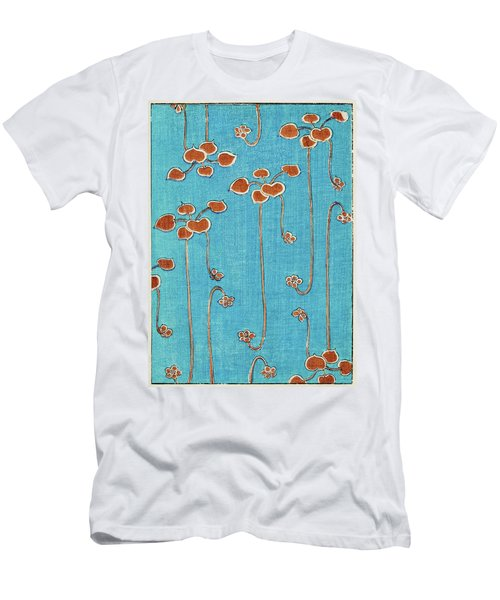 Aquatic Plants - Japanese Traditional Pattern Design Men's T-Shirt (Athletic Fit)