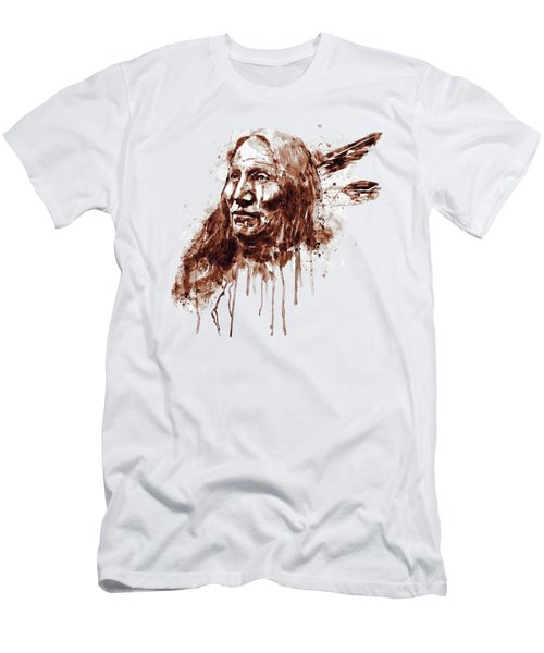 Native American Portrait Sepia Tones Men's T-Shirt (Athletic Fit)