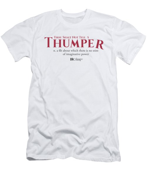 Thou Shalt Not Tell A Thumper Men's T-Shirt (Athletic Fit)