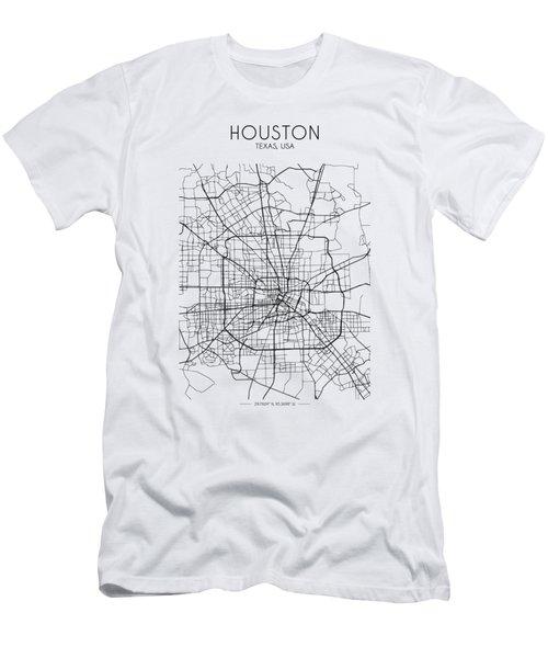 Houston Street Map Men's T-Shirt (Athletic Fit)