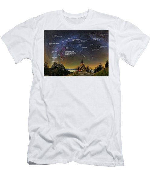 Astrophotography Winter Wonderland Men's T-Shirt (Athletic Fit)