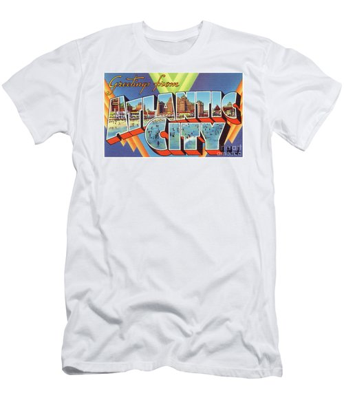 Men's T-Shirt (Athletic Fit) featuring the photograph Atlantic City Greetings #4 by Mark Miller