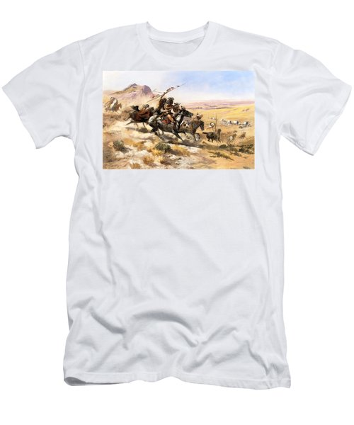 Attack On The Wagon Train Men's T-Shirt (Athletic Fit)