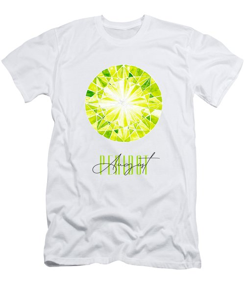 August Birthstone - Peridot Men's T-Shirt (Athletic Fit)