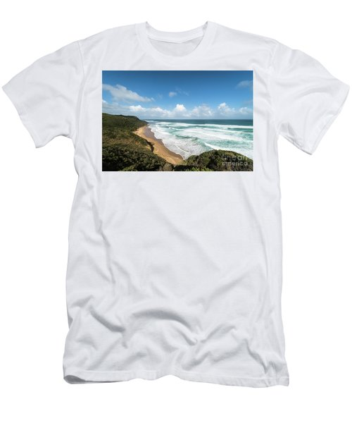 Australia Coastline Men's T-Shirt (Athletic Fit)