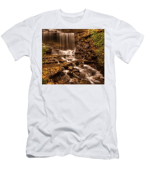 Men's T-Shirt (Athletic Fit) featuring the photograph Autumn Foliage At West Milton by Dan Sproul