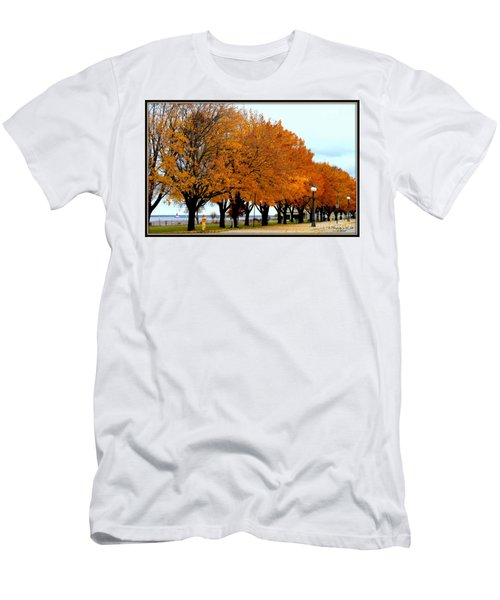 Autumn Leaves In Menominee Michigan Men's T-Shirt (Athletic Fit)