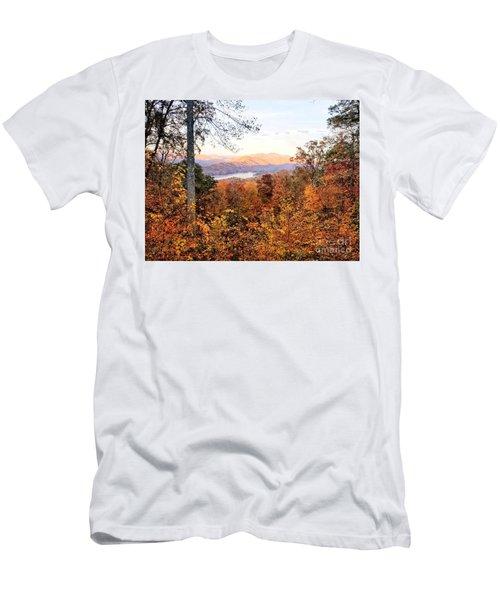 Men's T-Shirt (Athletic Fit) featuring the photograph Autumn Magic by Rachel Hannah