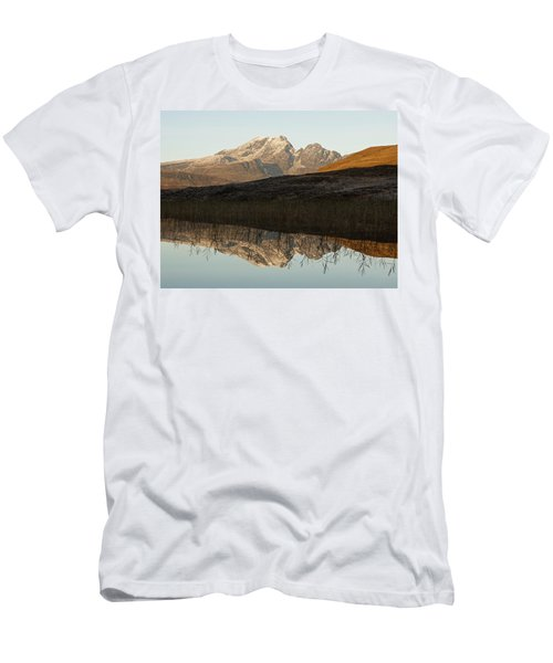 Men's T-Shirt (Athletic Fit) featuring the photograph Autumn Meets Winter At Blaven by Stephen Taylor