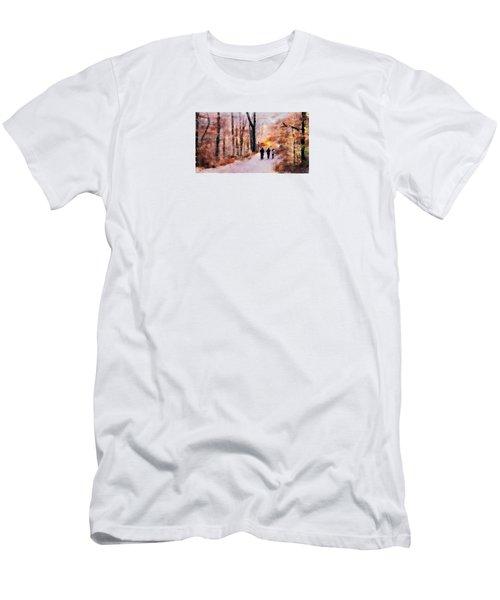 Autumn Walkers Men's T-Shirt (Athletic Fit)