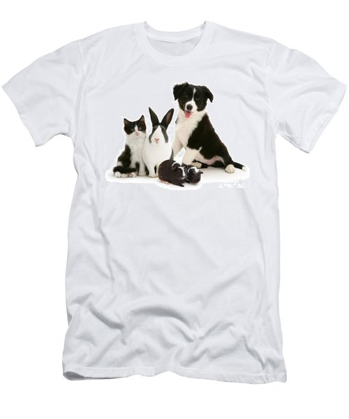 Men's T-Shirt (Athletic Fit) featuring the photograph Back-and-white Is Alright by Warren Photographic