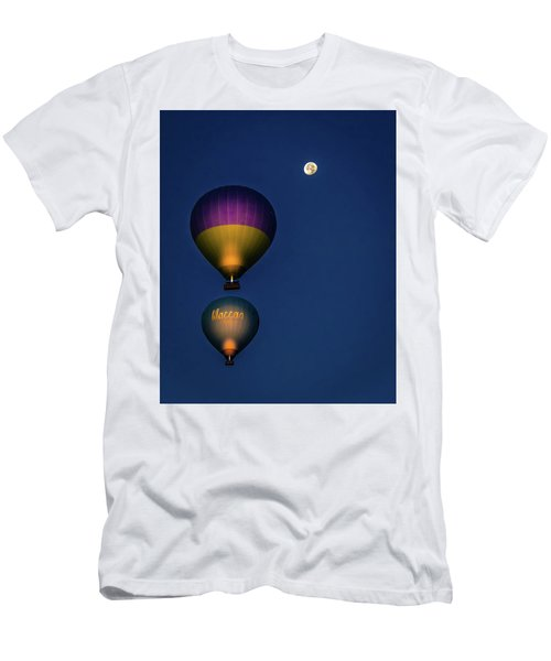 Men's T-Shirt (Athletic Fit) featuring the photograph Balloons And The Moon by Francisco Gomez