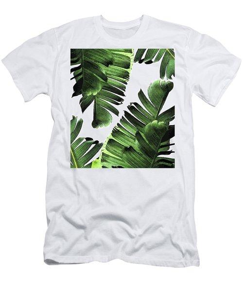 Banana Leaf - Tropical Leaf Print - Botanical Art - Modern Abstract - Green, Olive Men's T-Shirt (Athletic Fit)