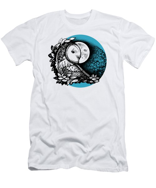 Barn Owl And The Moon Men's T-Shirt (Athletic Fit)
