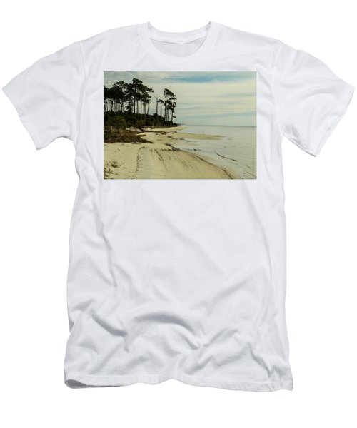Beach And Trees Men's T-Shirt (Athletic Fit)