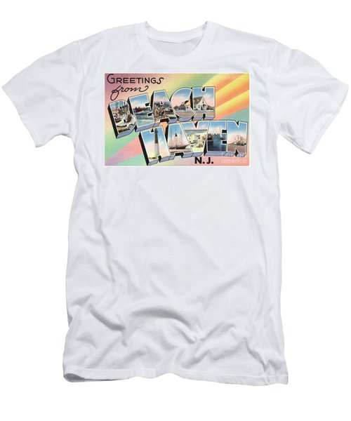 Beach Haven Greetings Men's T-Shirt (Athletic Fit)