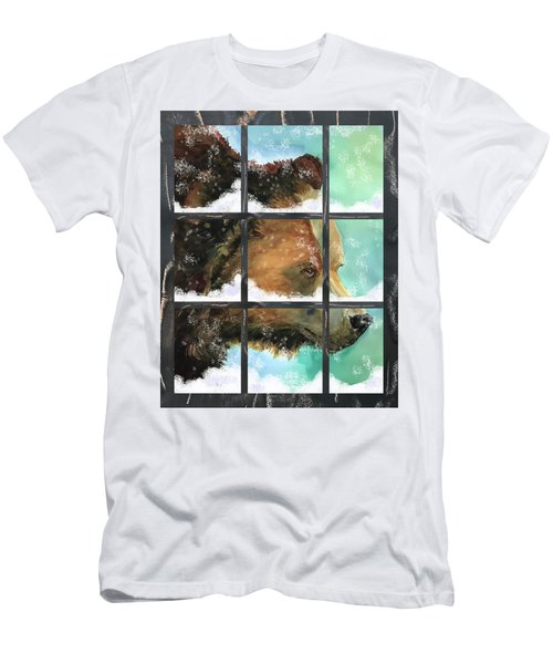 Bear Outside My Window Men's T-Shirt (Athletic Fit)