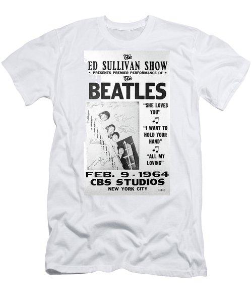 Beatles Ed Sullivan Show Bill 1964 Men's T-Shirt (Athletic Fit)