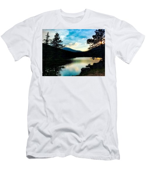 Men's T-Shirt (Athletic Fit) featuring the photograph Beaver Brook Lake by Dan Miller
