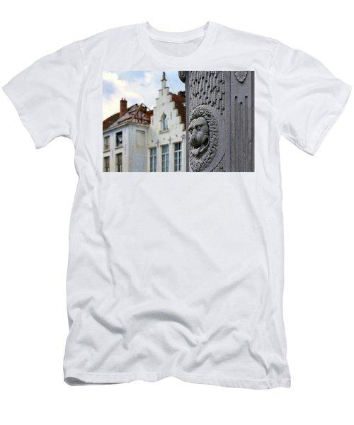 Belgian Coat Of Arms Men's T-Shirt (Athletic Fit)