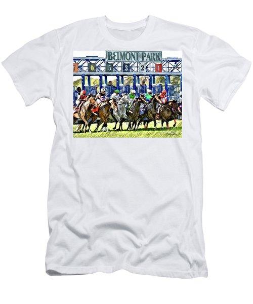 Belmont Park Starting Gate 1 Men's T-Shirt (Athletic Fit)