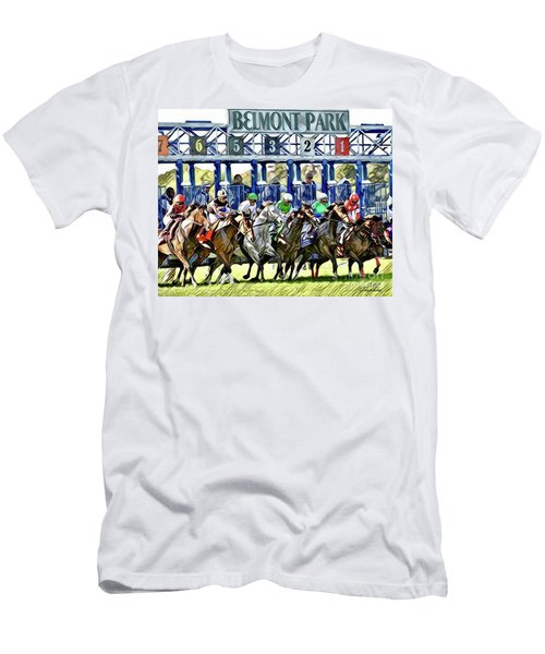 Belmont Park Starting Gate 1 Men's T-Shirt (Athletic Fit)