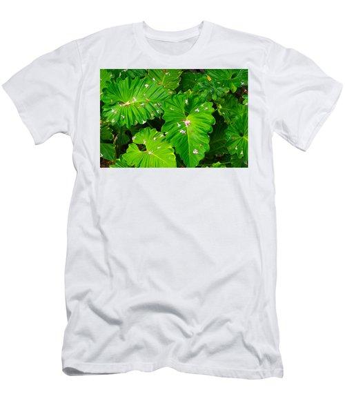 Big Green Leaves Men's T-Shirt (Athletic Fit)