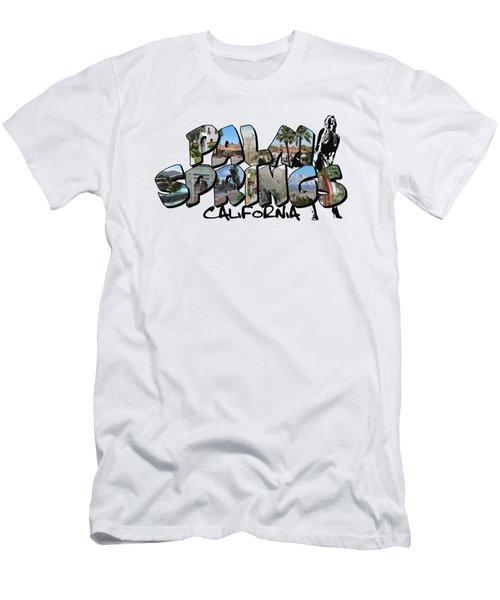 Big Letter Palm Springs California Men's T-Shirt (Athletic Fit)